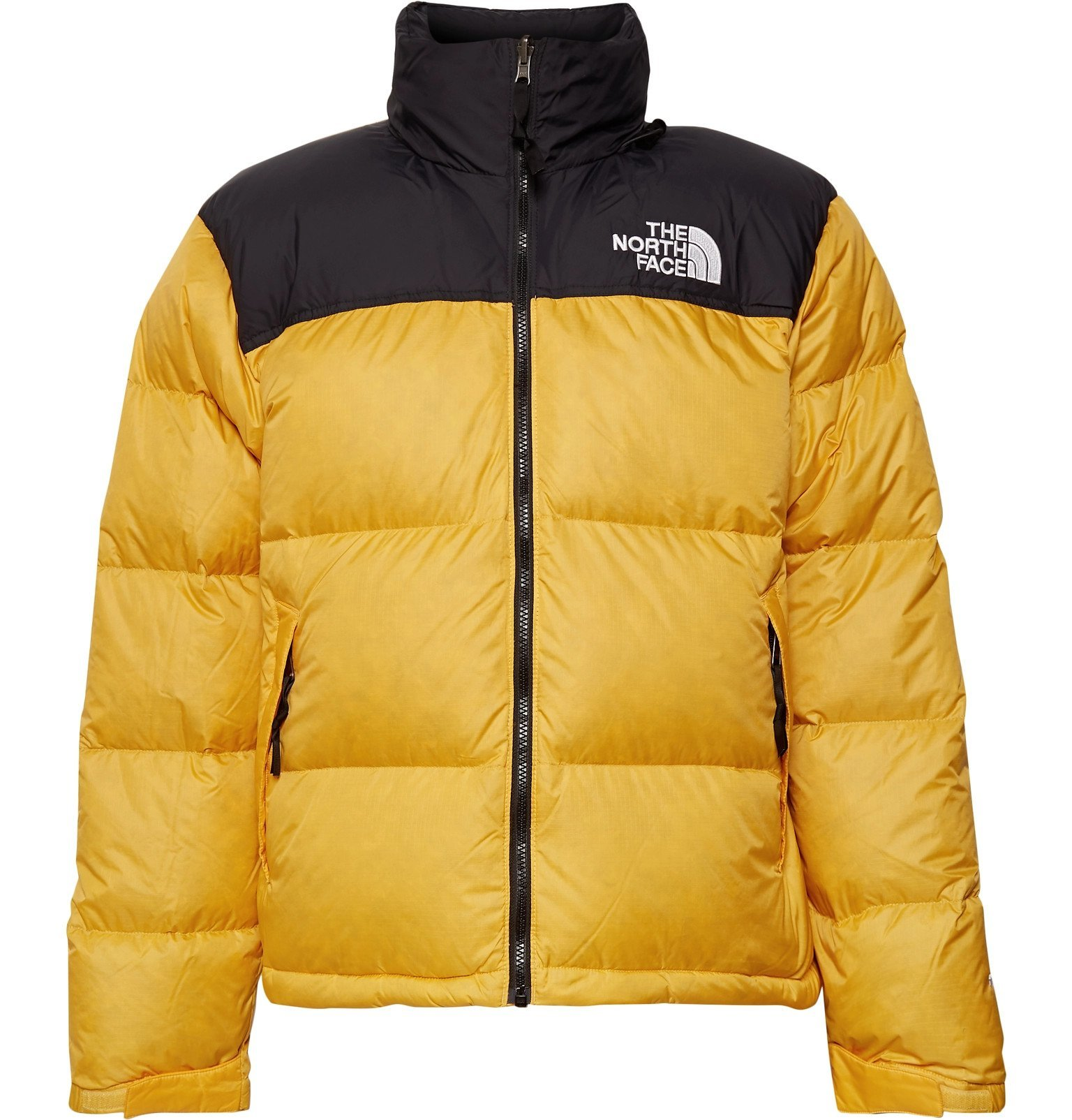 Photo: The North Face - 1996 Nuptse Colour-Block Quilted Nylon-Ripstop Down Jacket - Yellow