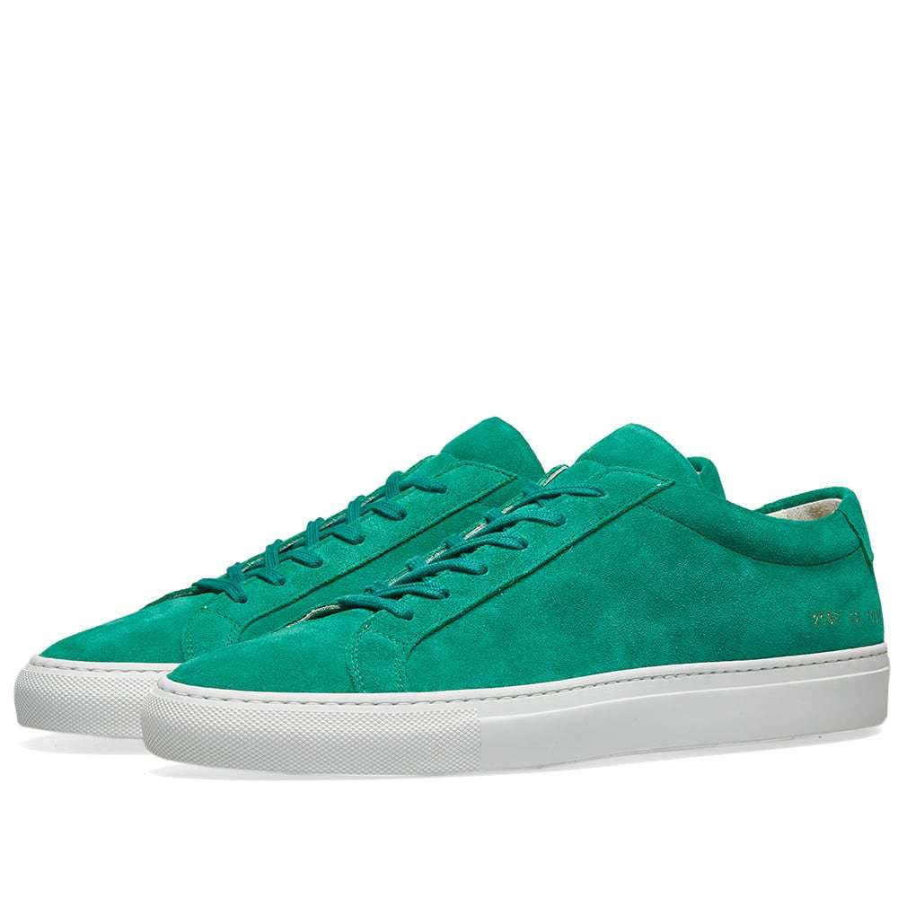 Common Projects Original Achilles Low Suede Green