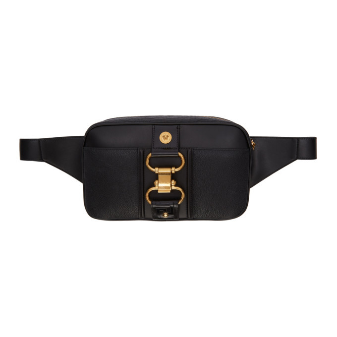 Versace Black Damysus Belt Bag
