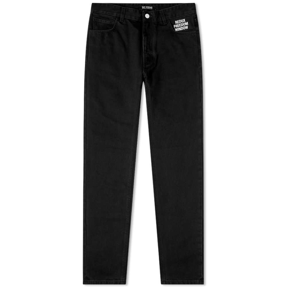 Photo: Raf Simons Slim Fit Picture Patch Jean