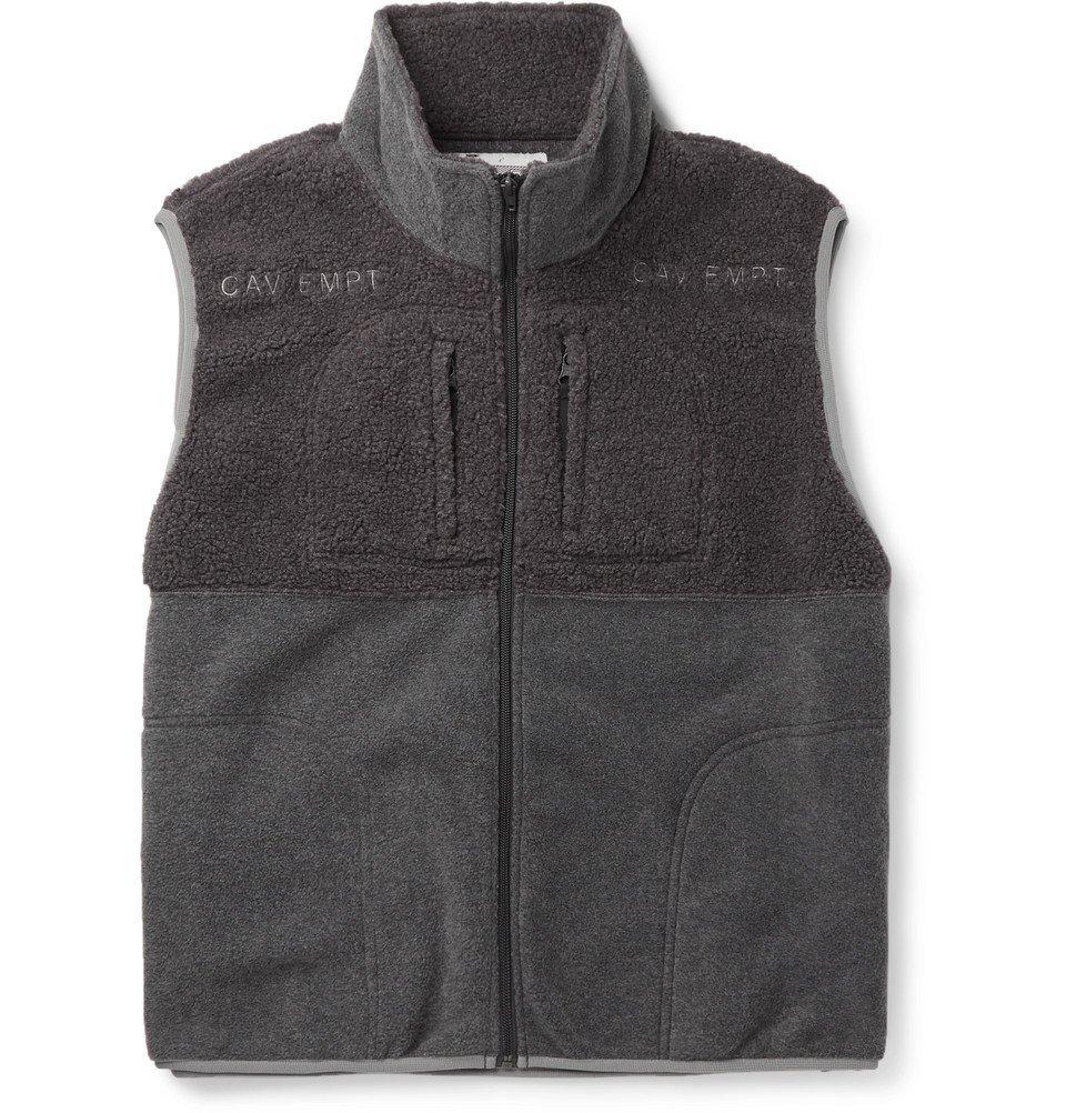 Photo: Cav Empt - Colour-Block Fleece Gilet - Gray