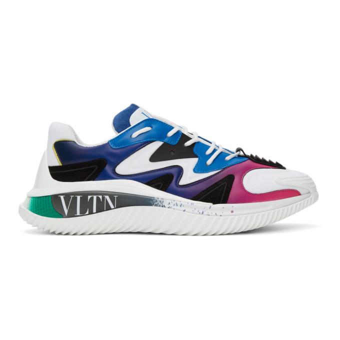 Photo: Valentino White and Blue VLTN Wade Runner Sneakers