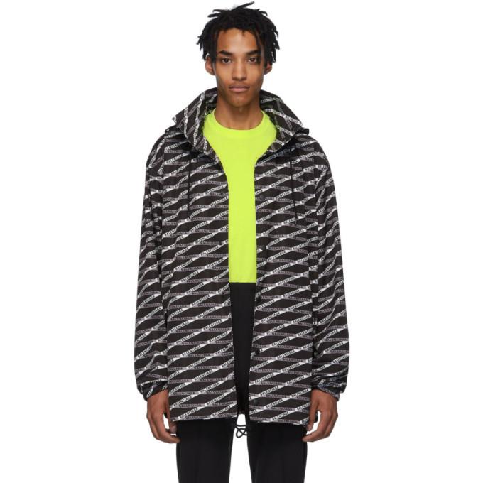 Photo: Balenciaga Black and Grey Monogram Raincoat