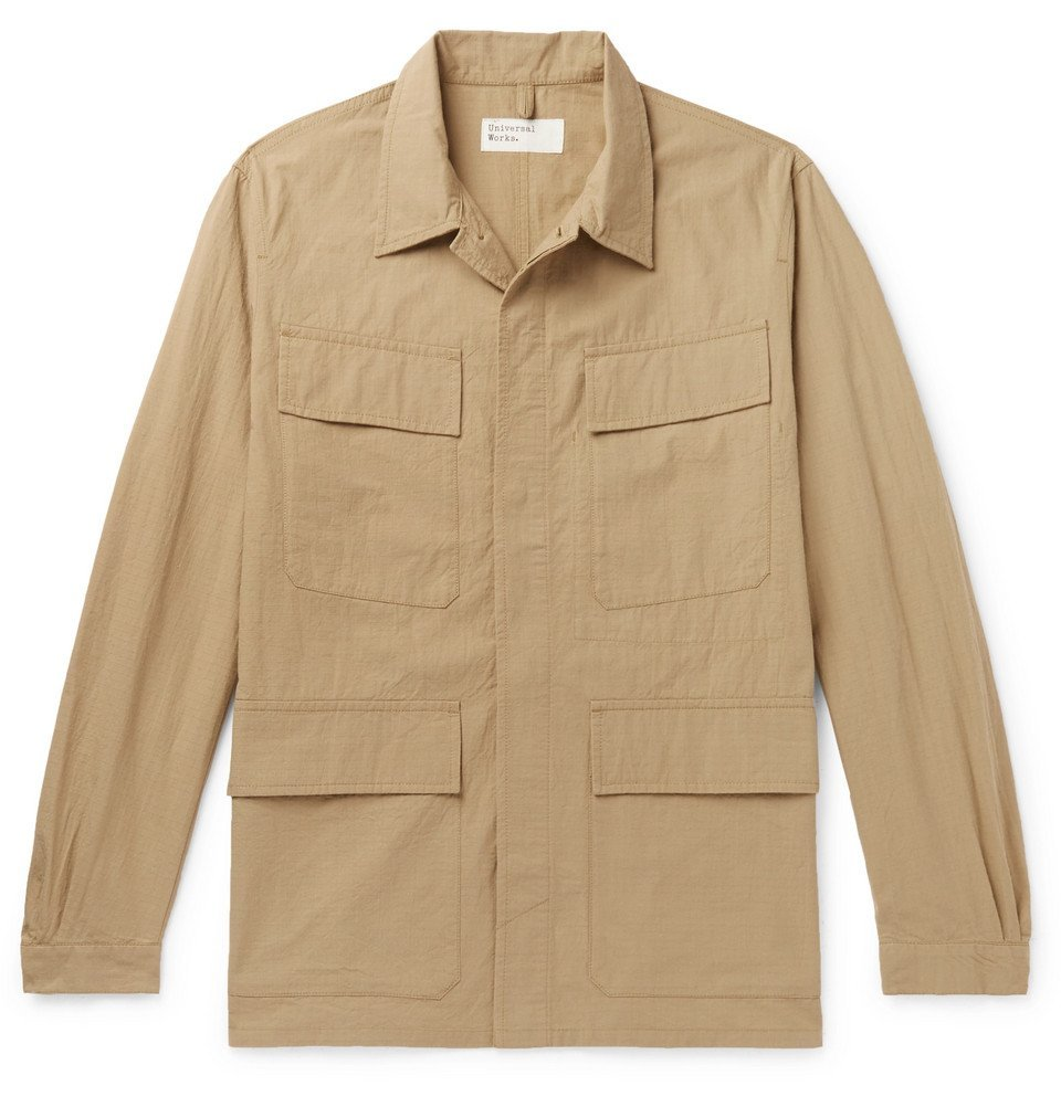 Photo: Universal Works - Cotton-Ripstop Shirt Jacket - Sand