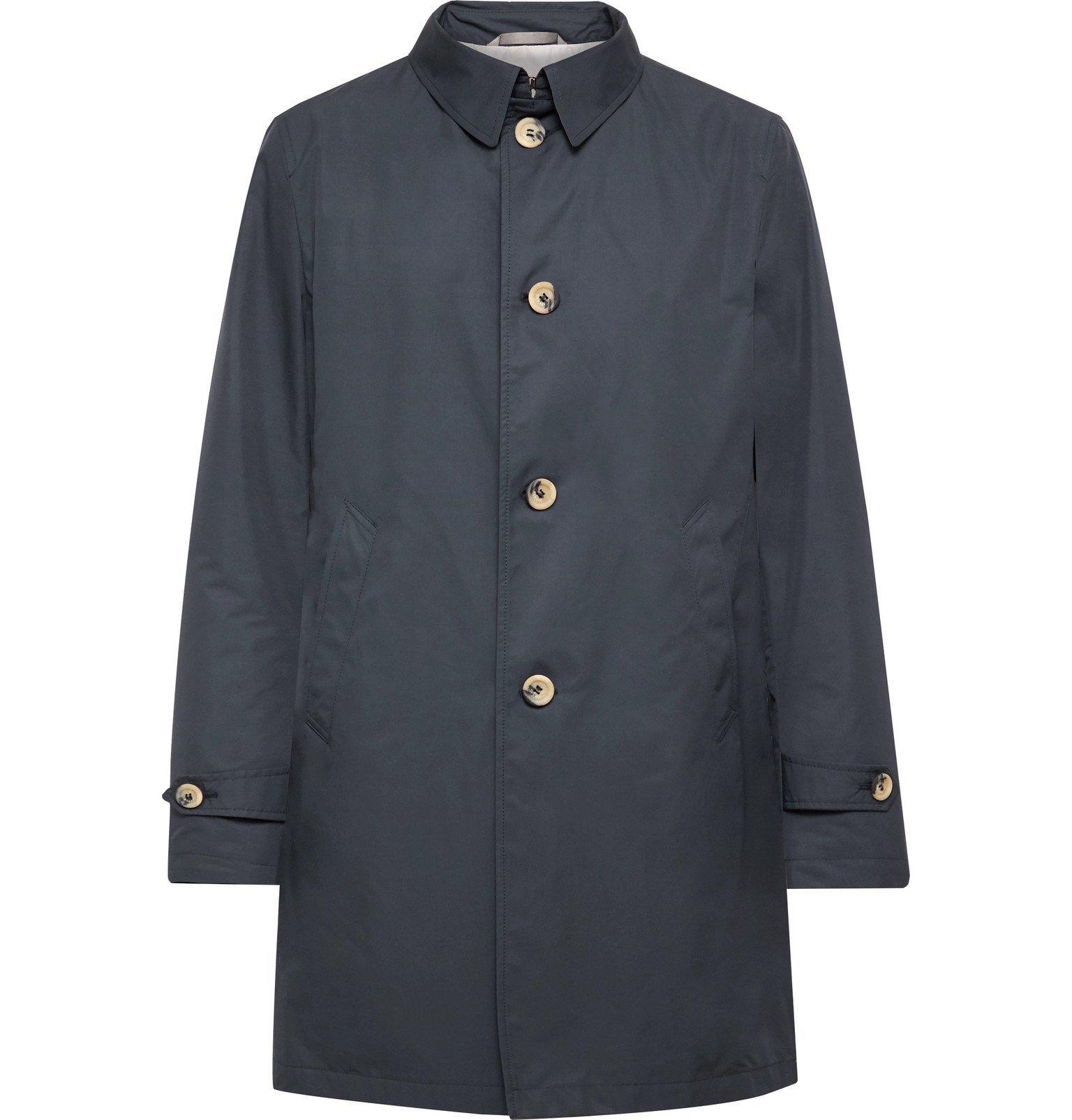 Photo: Canali - Shell Raincoat - Blue