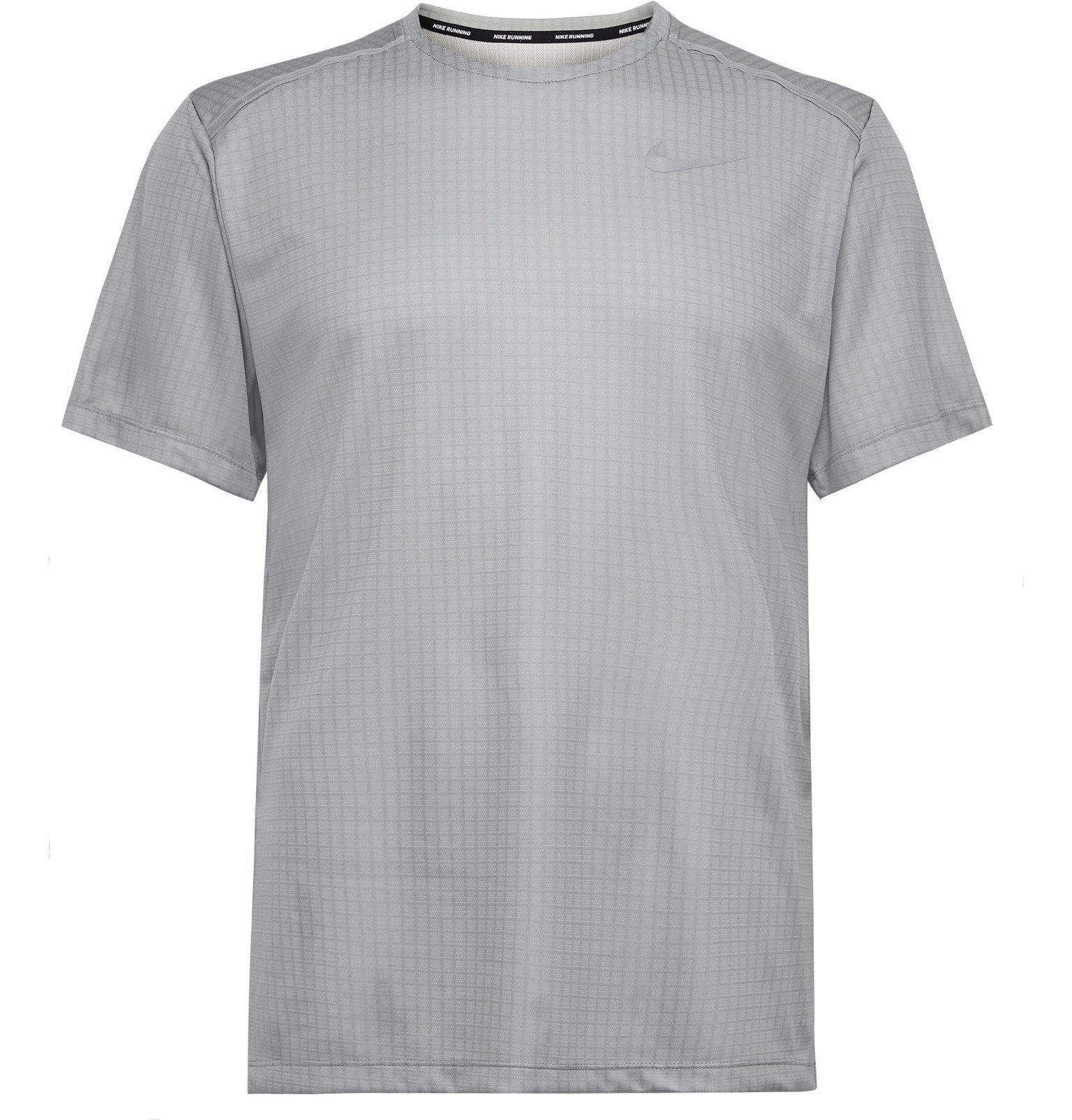 Photo: Nike Running - Miler Dri-FIT Ripstop T-Shirt - Gray