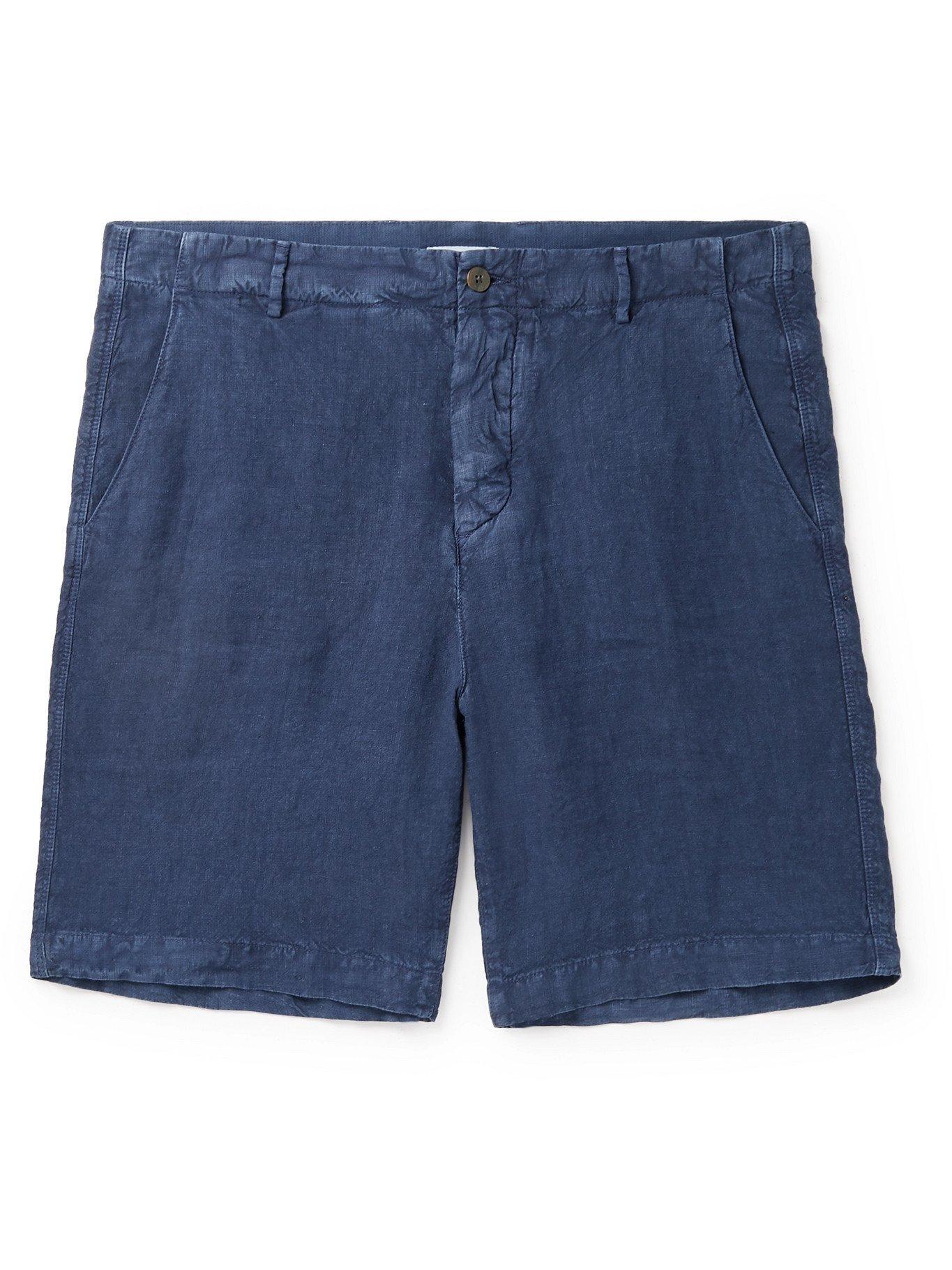 Photo: BOGLIOLI - Linen Shorts - Blue - IT 42