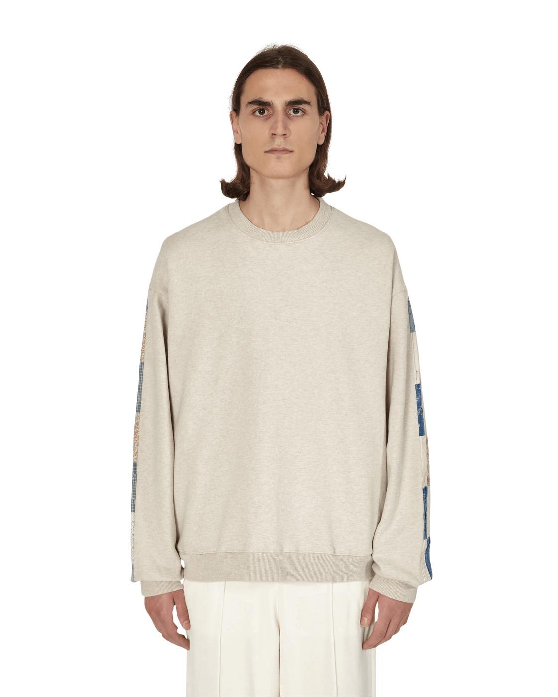 Photo: Kapital Fleecy Knit X American Quilt Country 2tones Big Sweatshirt Ecru