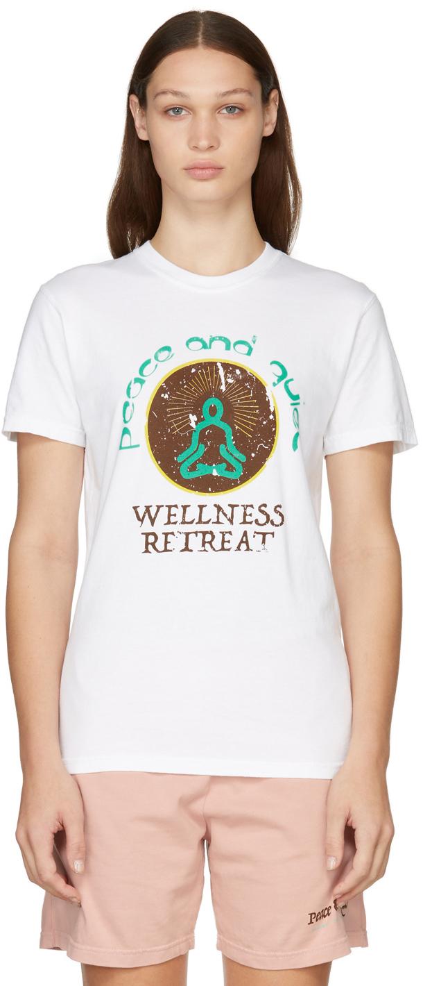 Photo: Museum of Peace & Quiet White 'Wellness Retreat' T-Shirt
