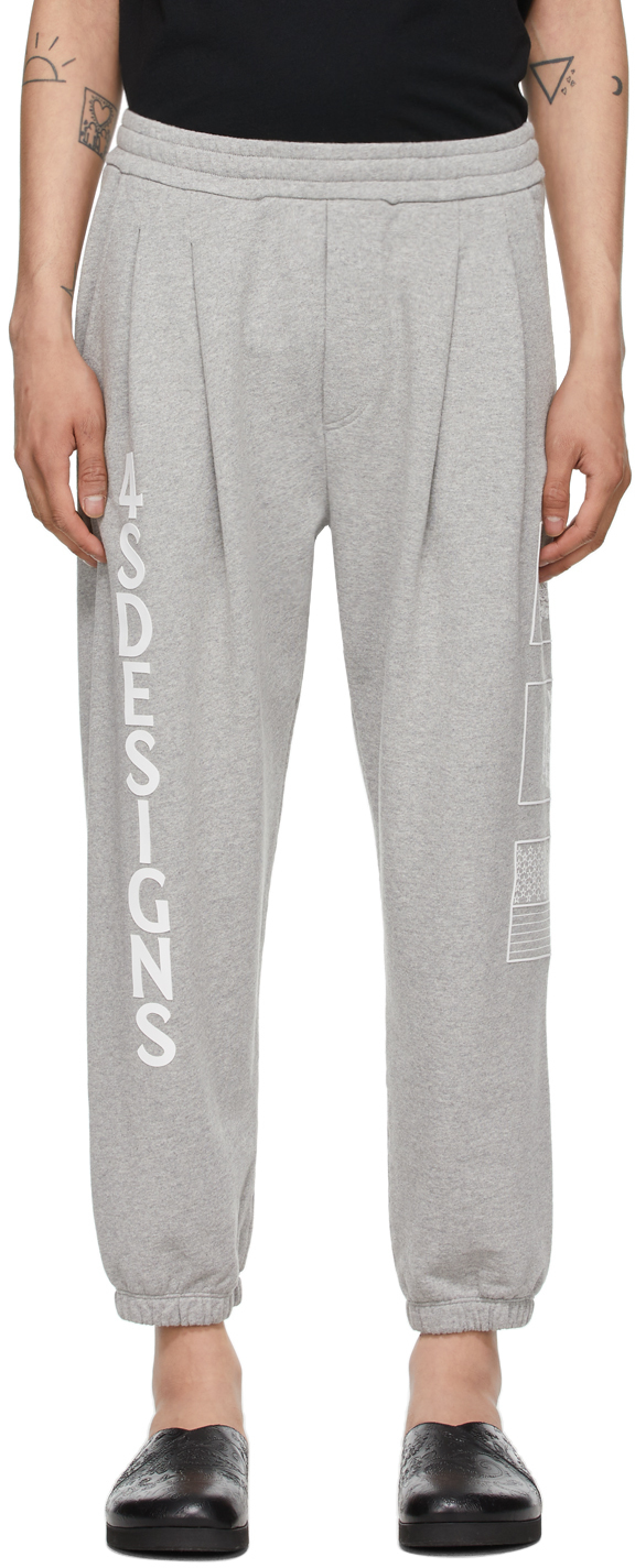Photo: 4SDESIGNS Grey Two Pleat Lounge Pants