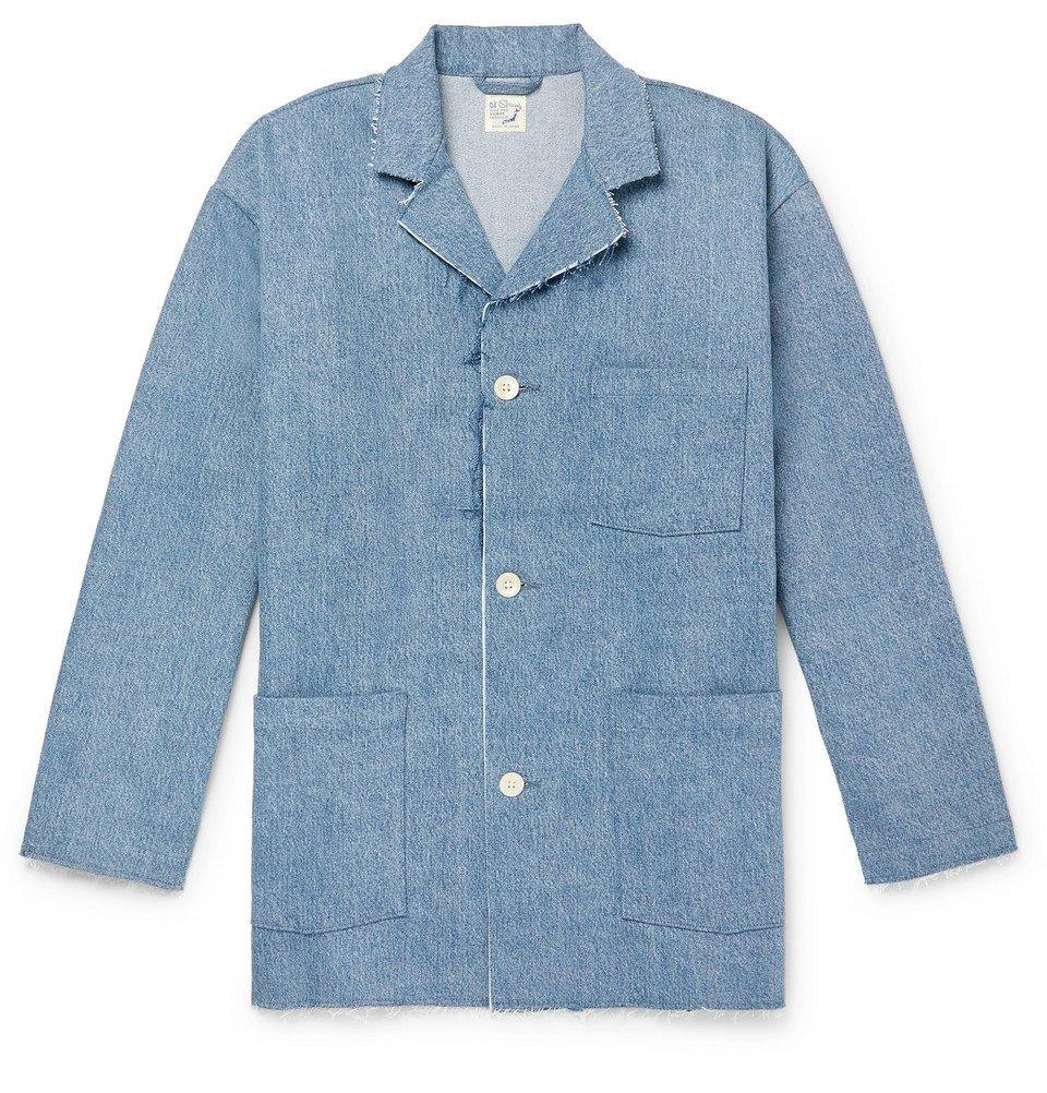 Photo: OrSlow - Distressed Denim Jacket - Blue