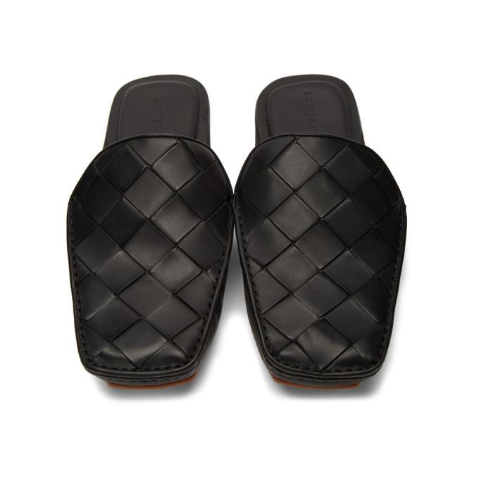 Bottega Veneta Black Intrecciato Loafers