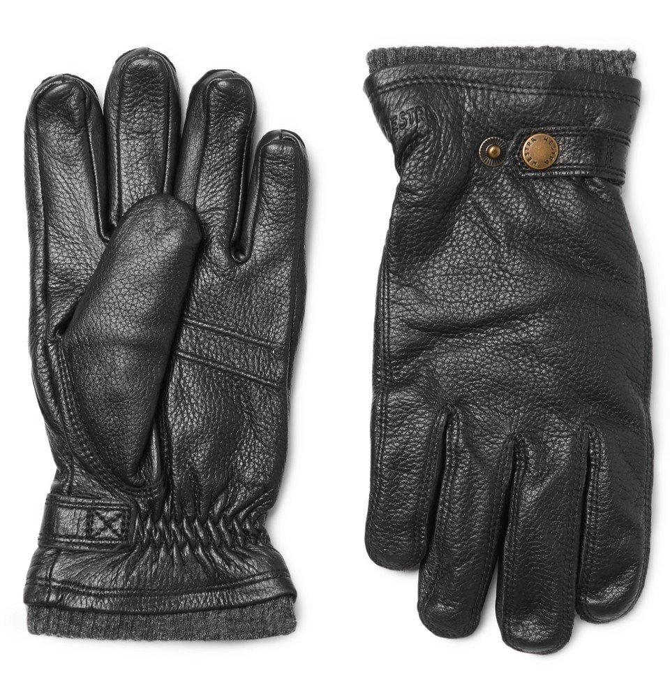 Photo: Hestra - Utsjö Fleece-Lined Full-Grain Leather Gloves - Men - Black