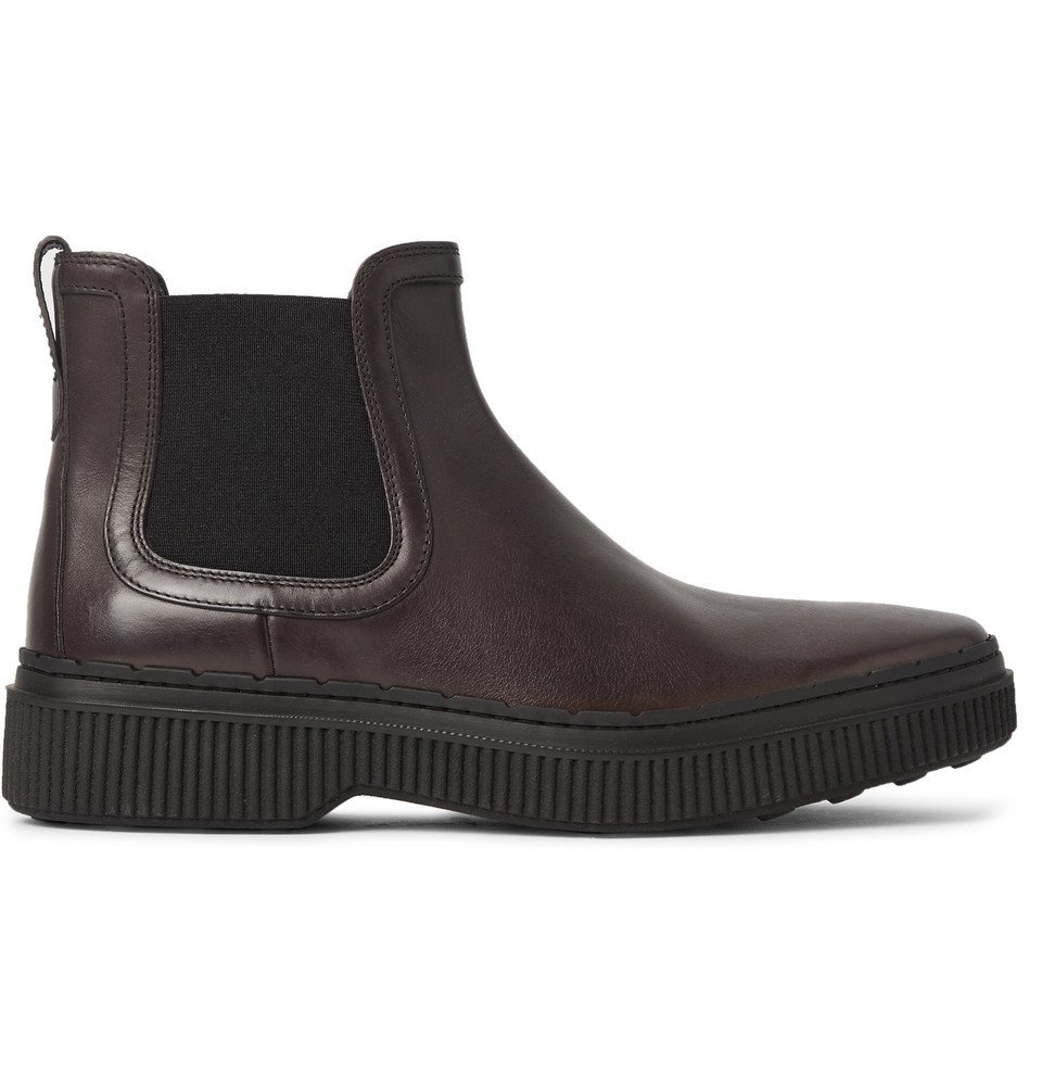 Tod's - Leather Chelsea Boots - Men - Dark brown