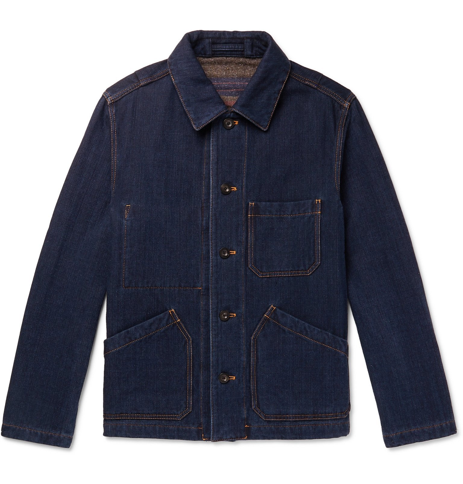 Photo: Mr P. - Double-Faced Denim Chore Jacket - Blue