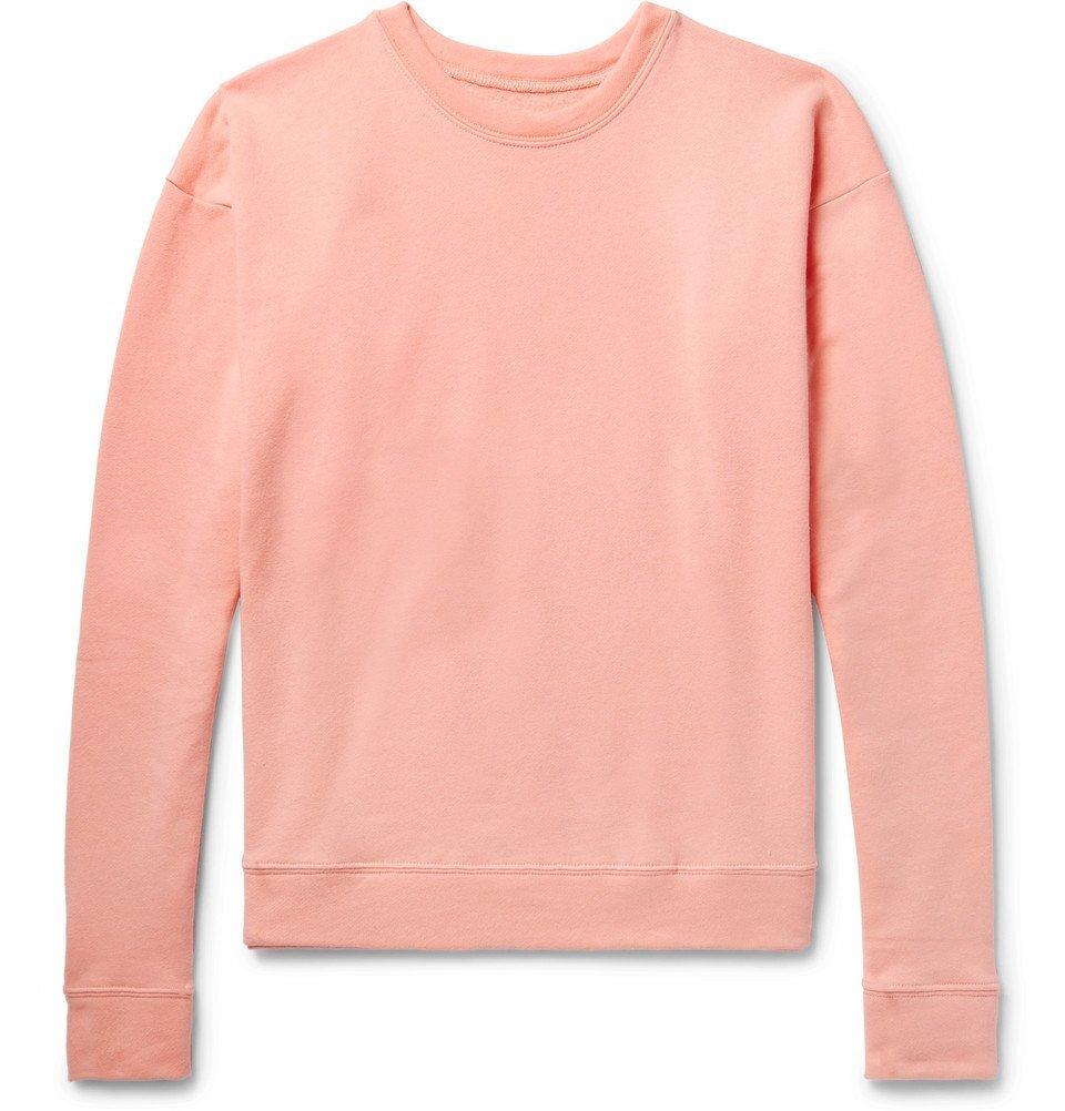 Photo: The Elder Statesman - Fleece-Back Cotton-Jersey Sweatshirt - Pink