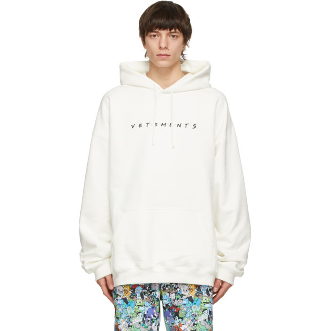Photo: VETEMENTS White Friendly Logo Hoodie