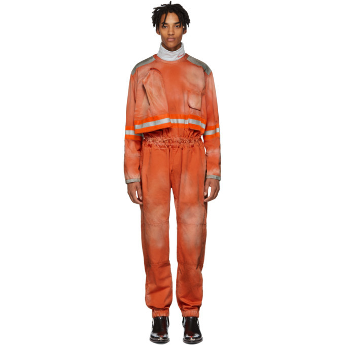Photo: Calvin Klein 205W39NYC Orange Fireman Reverse Zip Jumpsuit
