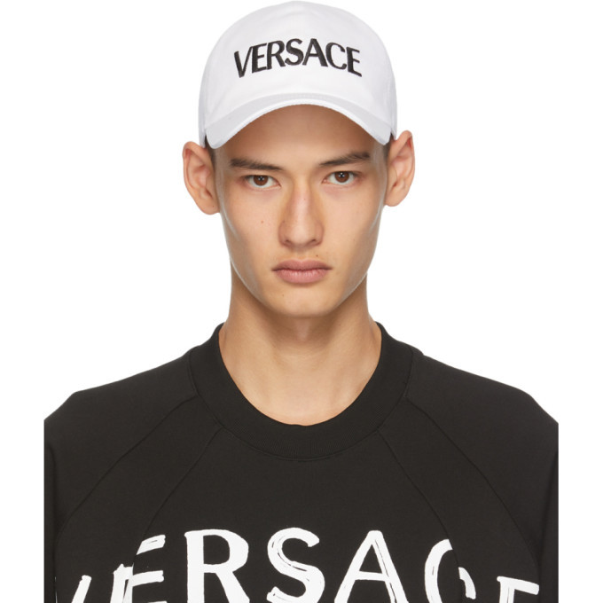 Photo: Versace White Logo Cap