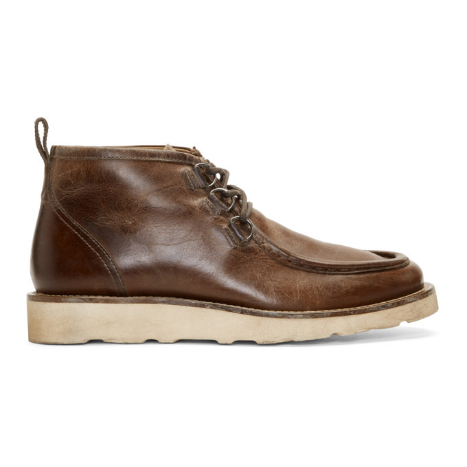 Belstaff Brown Macclesfield Lace-Up Boots