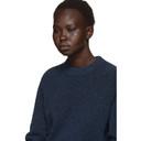 3.1 Phillip Lim Blue Inset Shoulder High Low Sweater