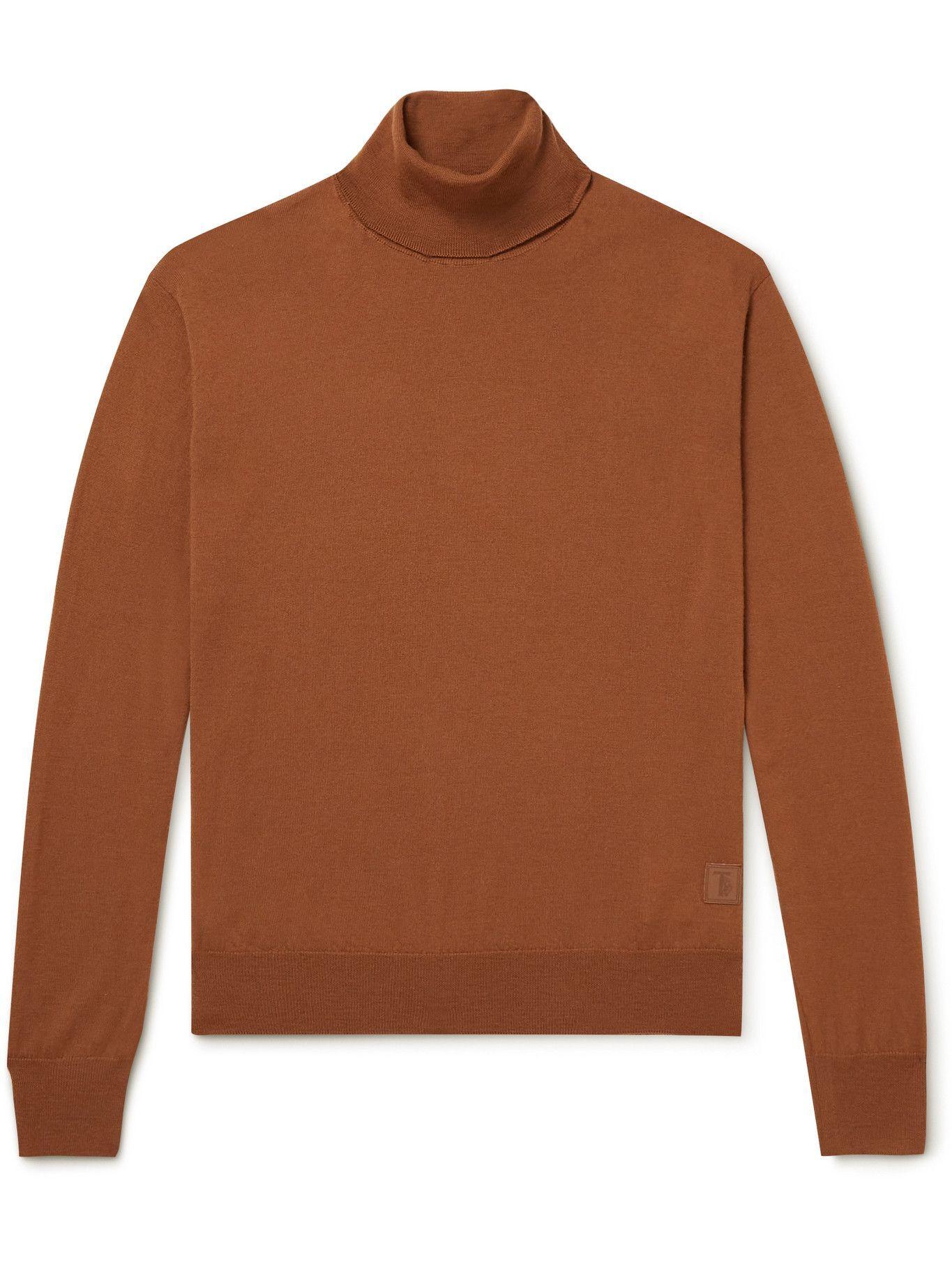 Photo: Tod's - Logo-Appliquéd Merino Wool Rollneck Sweater - Unknown