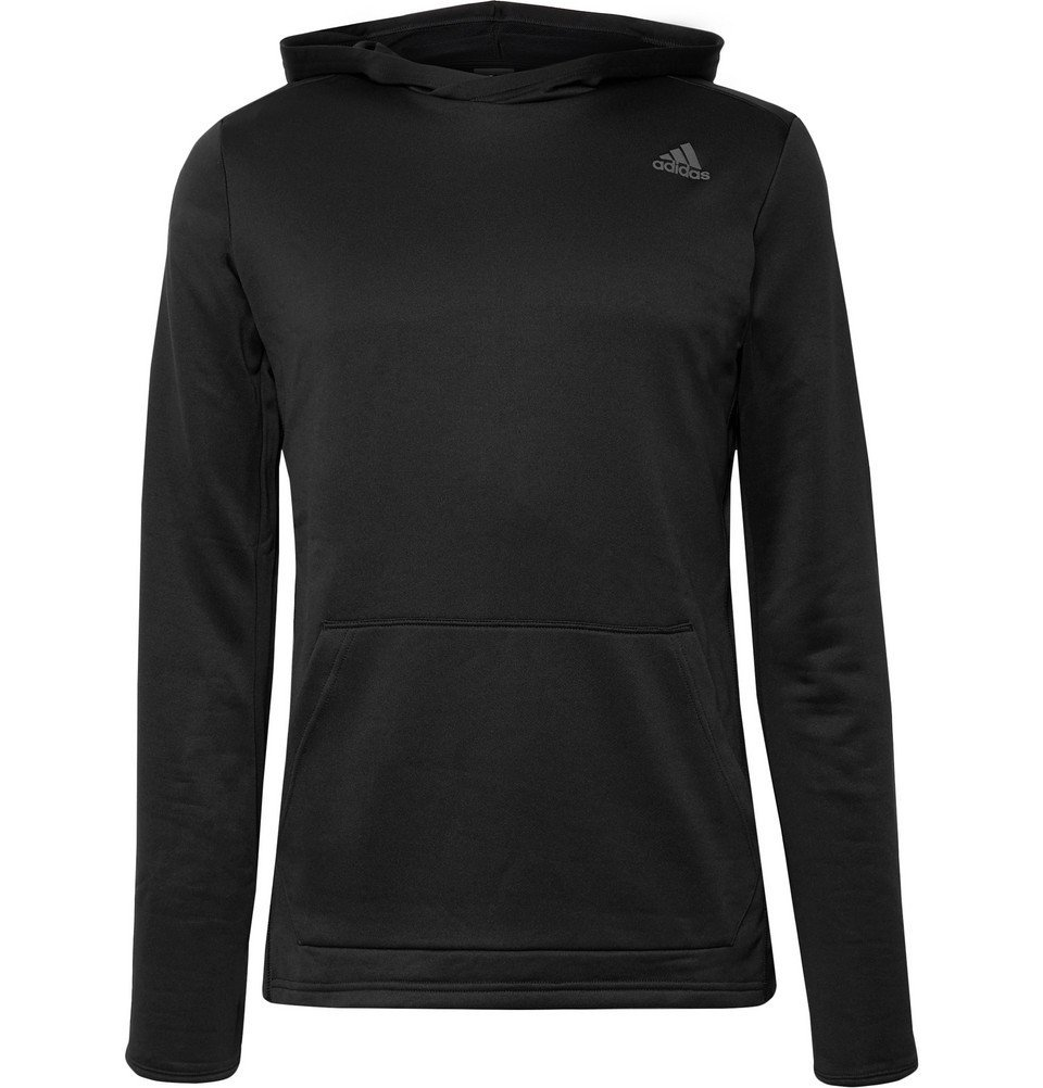 Photo: Adidas Sport - Own the Run Loopback-Climalite Hoodie - Black