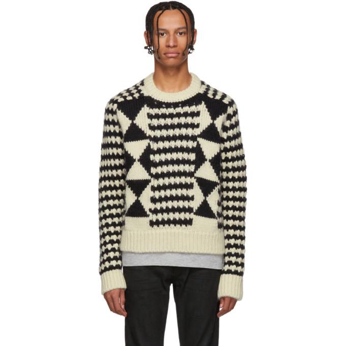 Photo: Saint Laurent Black and White Multi Pattern Sweater