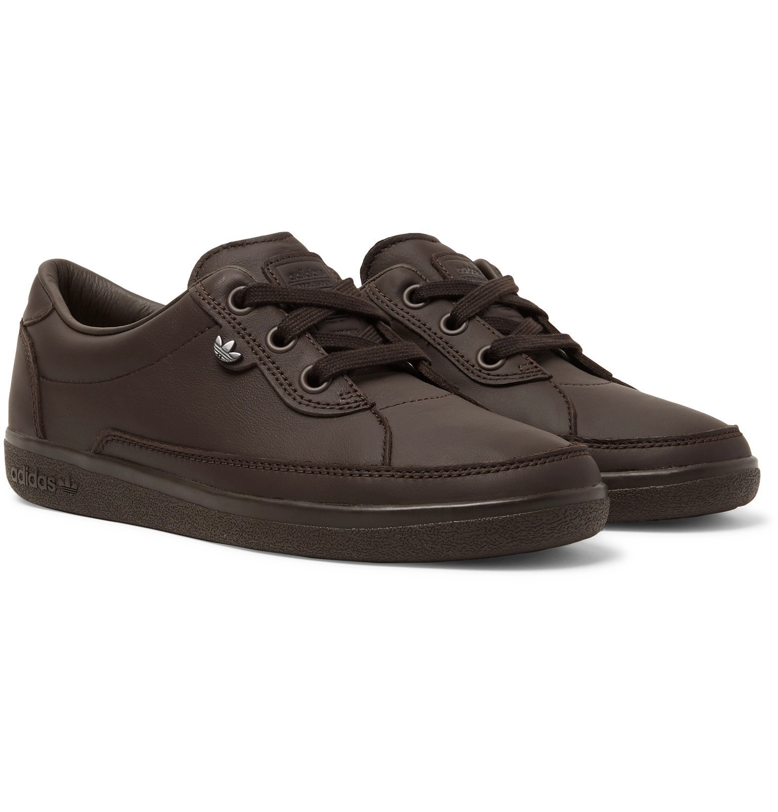 Photo: adidas Consortium - Hoddlesden SPZL Leather Sneakers - Brown