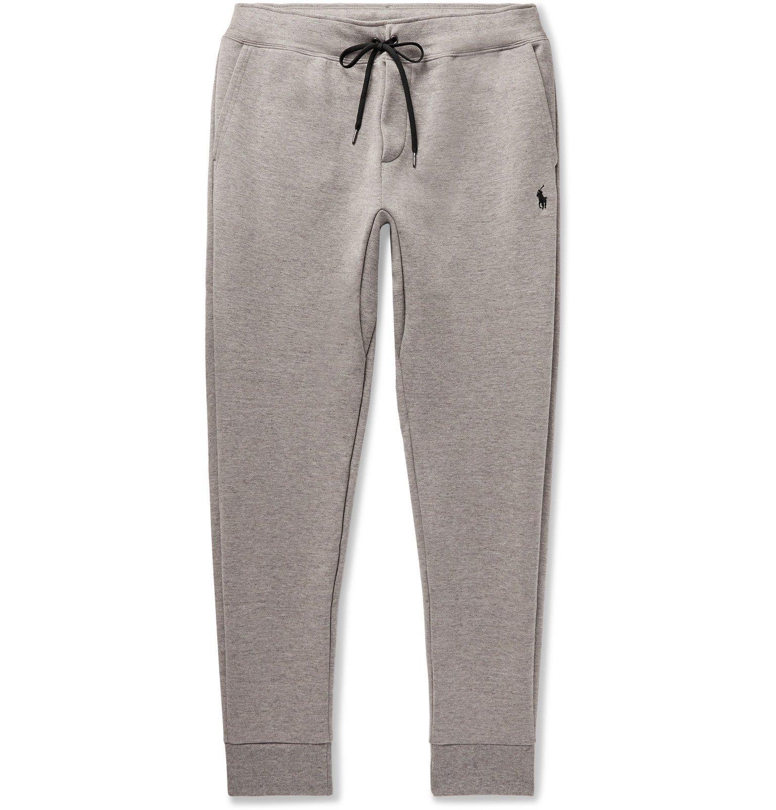 Photo: Polo Ralph Lauren - Tapered Mélange Jersey Sweatpants - Gray