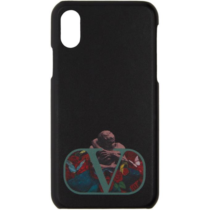 Photo: Valentino Black Valentino Garavani Undercover Edition Logo iPhone X Case