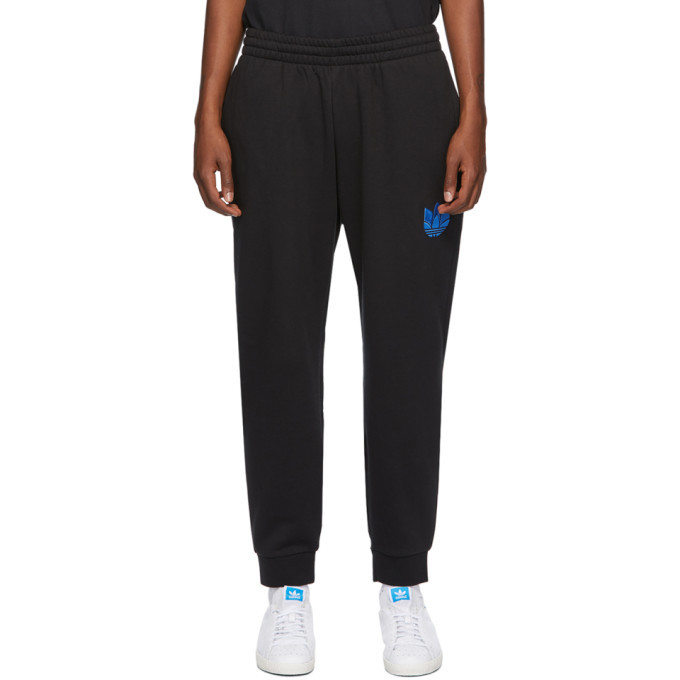 Photo: adidas Originals Black 3D Trefoil Sweatpants