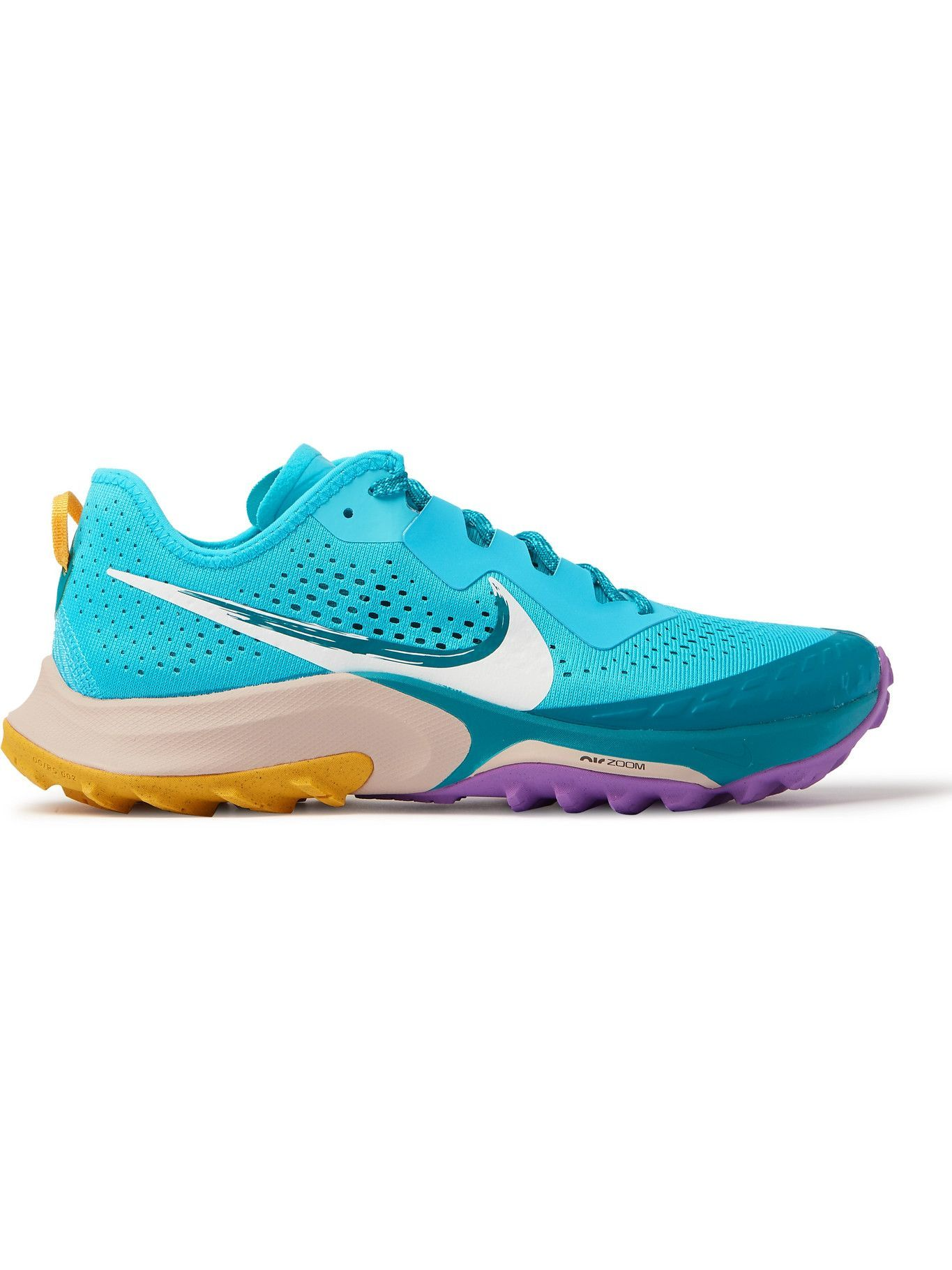 NIKE RUNNING - Air Zoom Terra Kiger 7 Rubber-Trimmed Mesh Running Sneakers - Blue