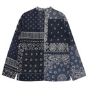 Kapital Gauze Bandana Patchwork Kakashi Shirt Purplenavy