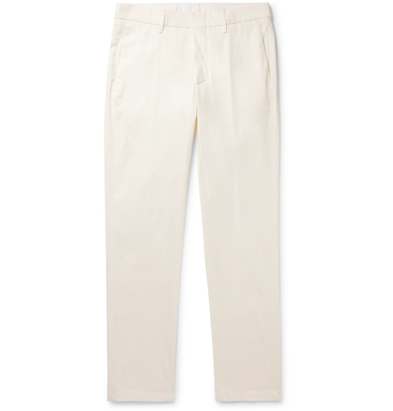 Photo: DUNHILL - Cotton-Blend Chinos - White