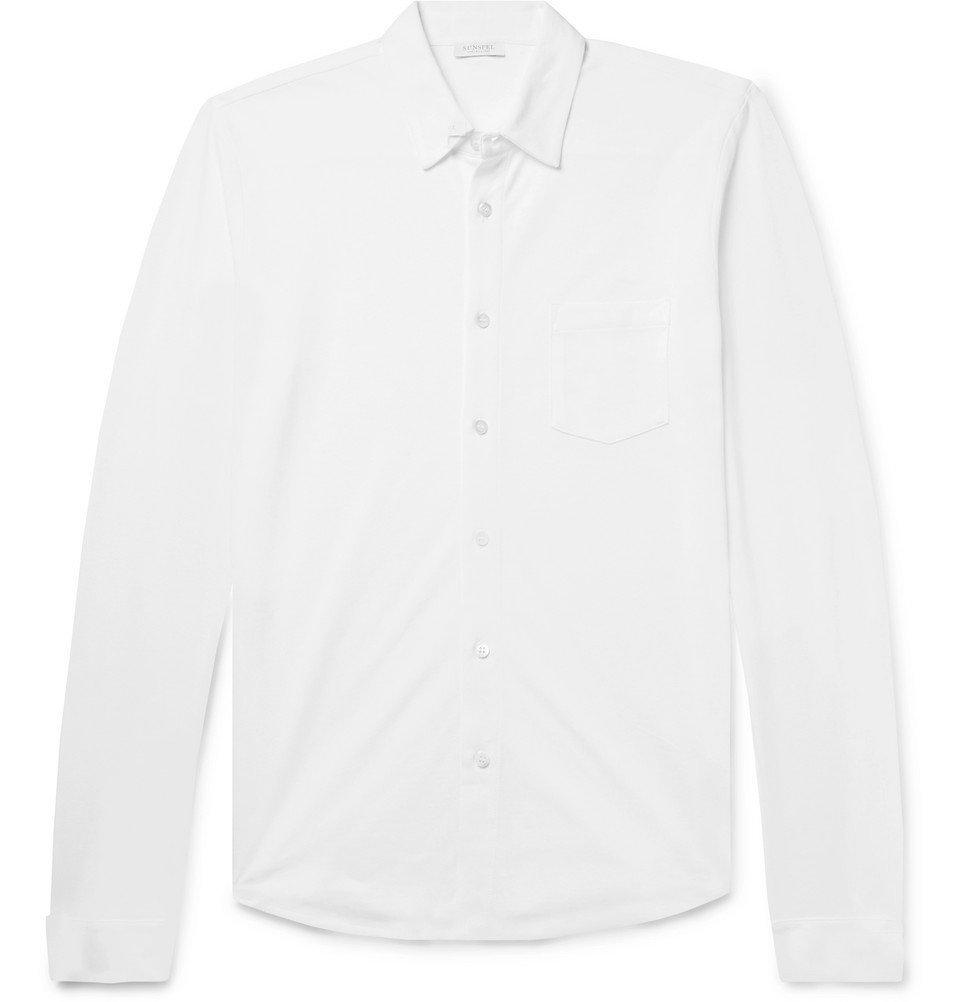 Sunspel - Pima Cotton-Piqué Shirt - Men - White