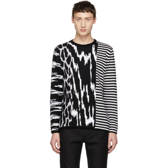 Photo: Givenchy Black and White Animal Striped Sweater