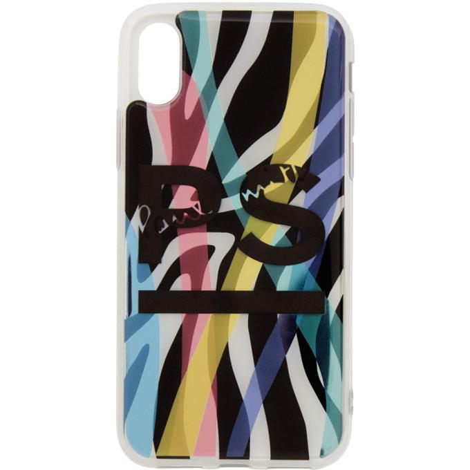 Photo: PS by Paul Smith Multicolor Neon Zebra iPhone X Case