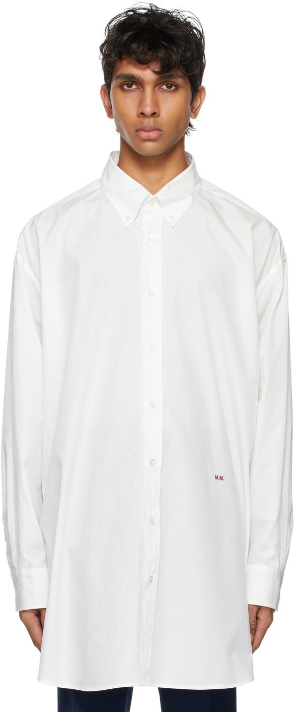 Photo: Maison Margiela Off-White Oversized Poplin Shirt