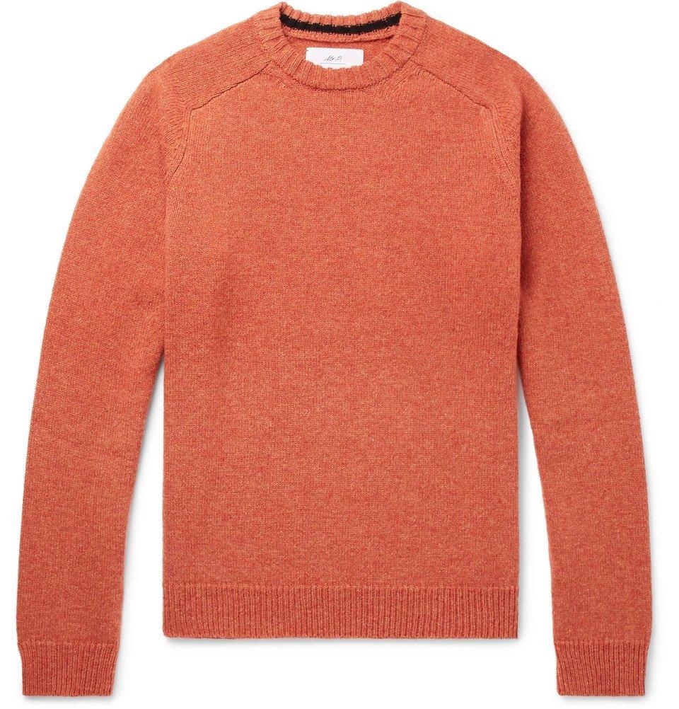Photo: Mr P. - Mélange Shetland Wool Sweater - Men - Orange