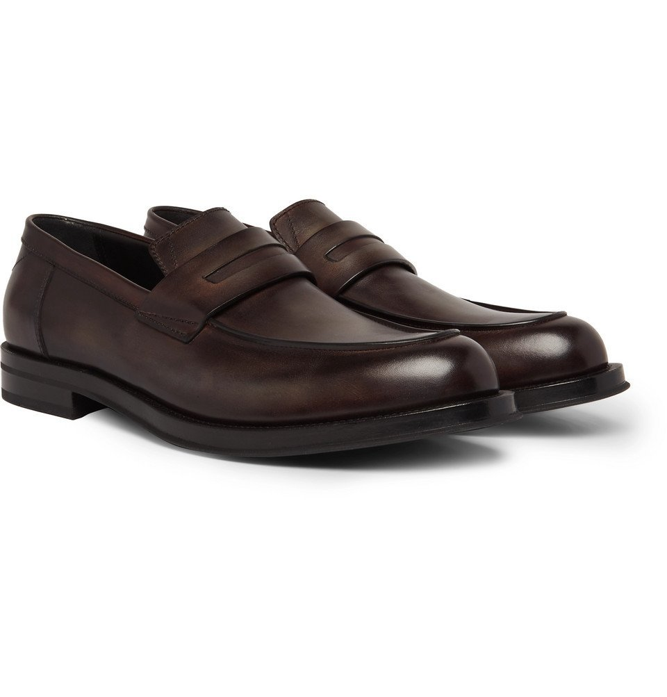 Photo: Berluti - Venezia Leather Penny Loafers - Dark brown