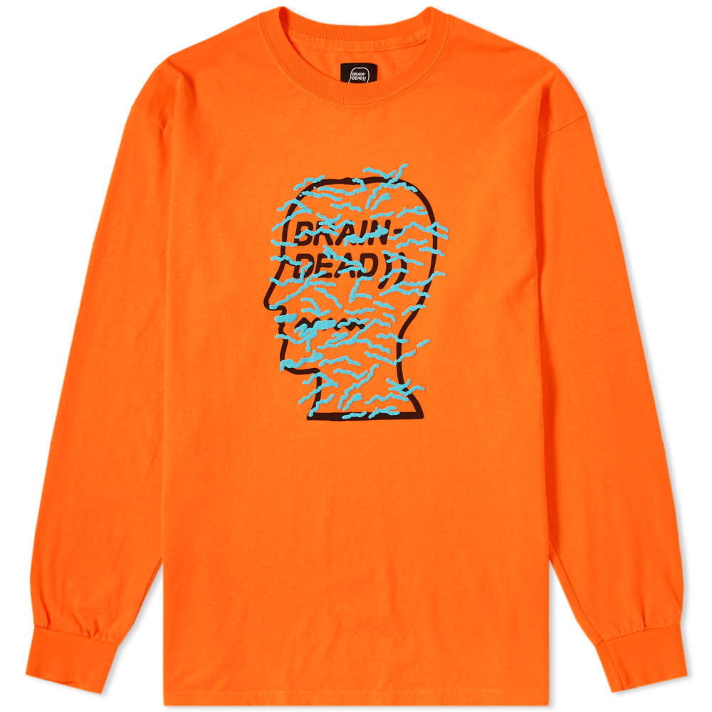 Photo: Brain Dead Long Sleeve Infected Logo Tee