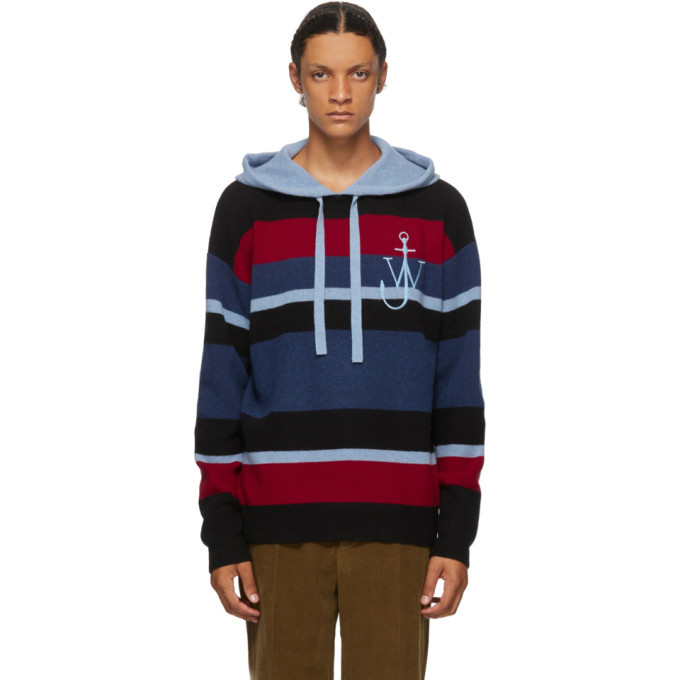 Photo: JW Anderson Blue Striped Anchor Hoodie