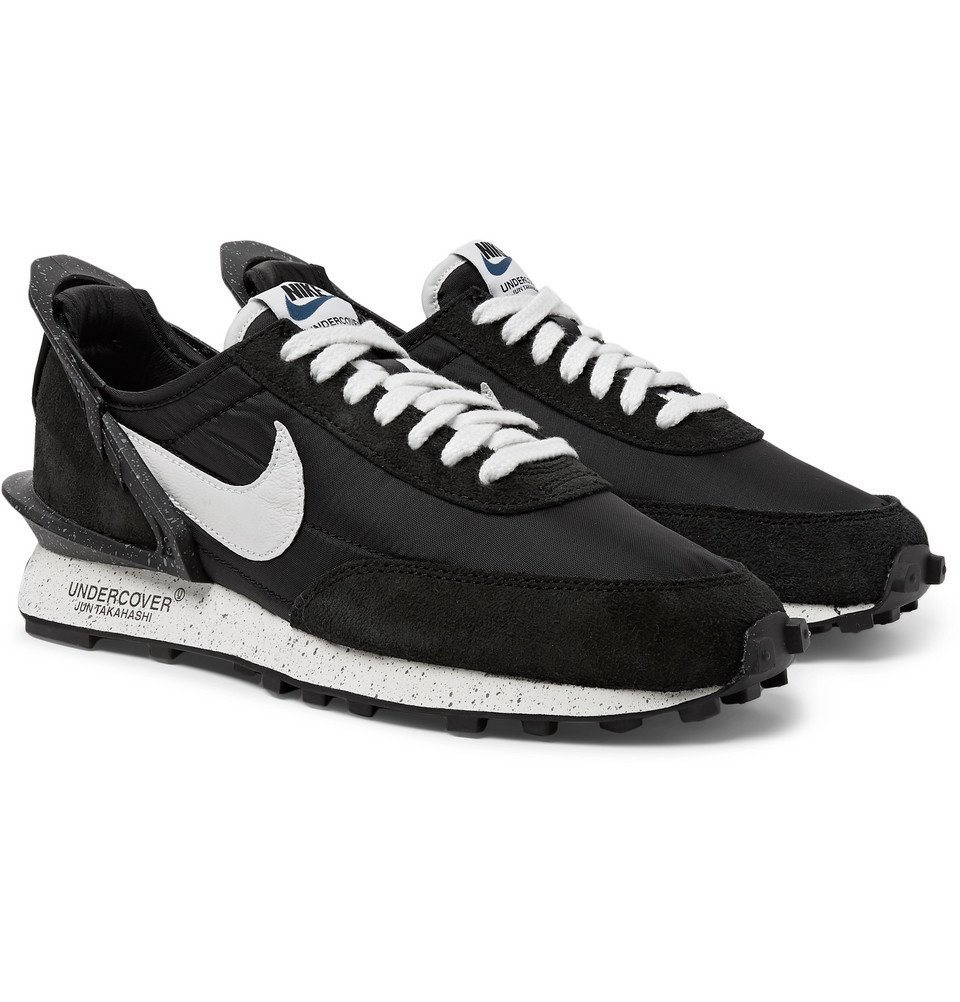 Photo: Nike - Undercover Daybreak Suede-Panelled Shell Sneakers - Black