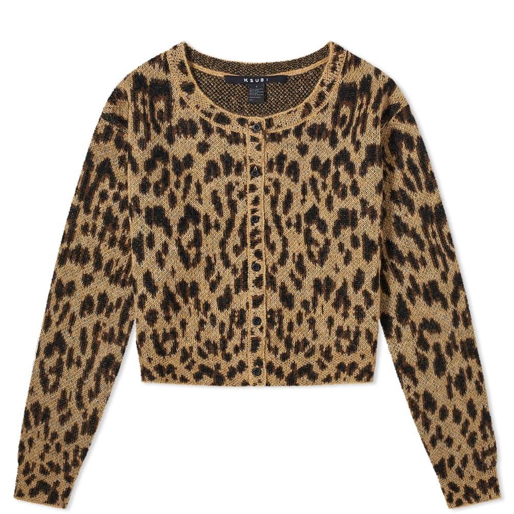 Photo: Ksubi Leopard Cropped Cardigan