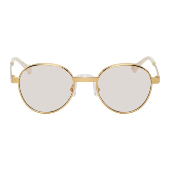 Photo: Gucci Gold GG0872S Sunglasses