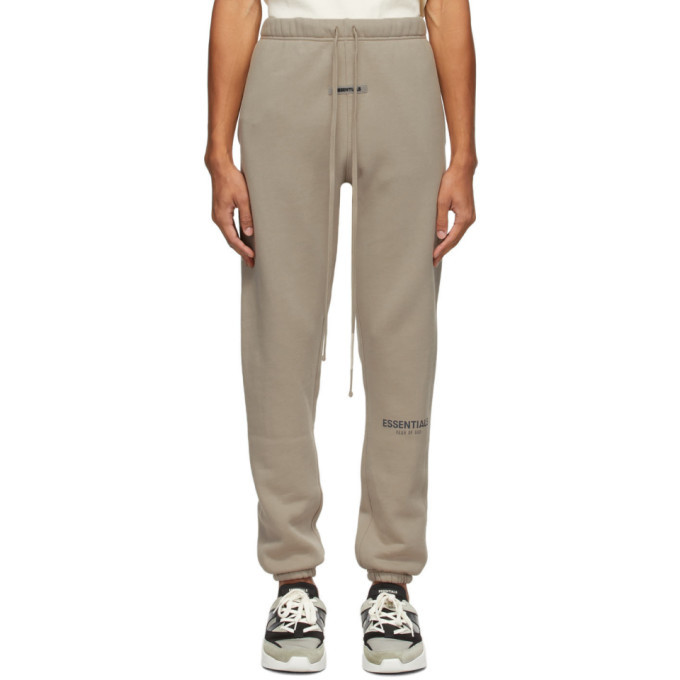 Photo: Essentials Taupe Fleece Lounge Pants