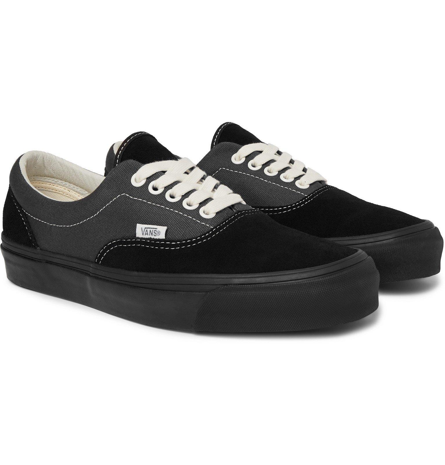 Photo: Vans - OG Era LX Colour-Block Canvas and Suede Sneakers - Black