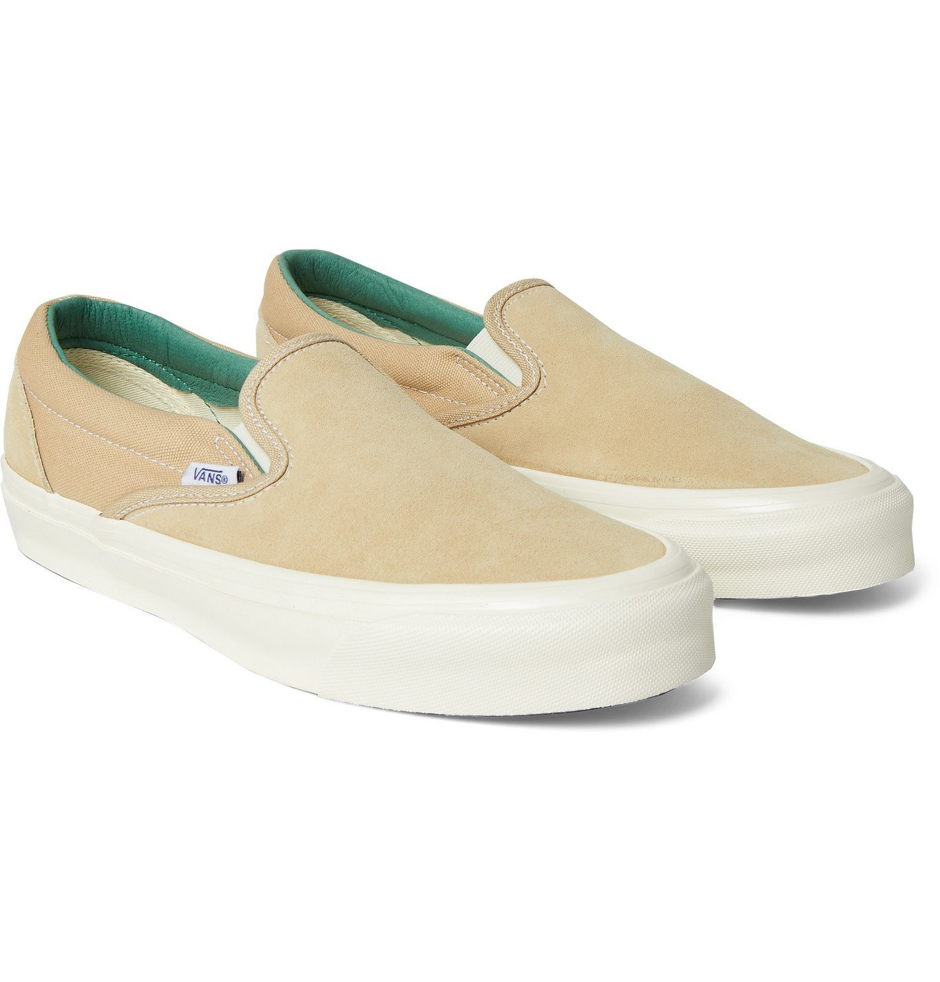 Photo: Vans - OG Classic LX Suede and Canvas Slip-On Sneakers - Neutrals