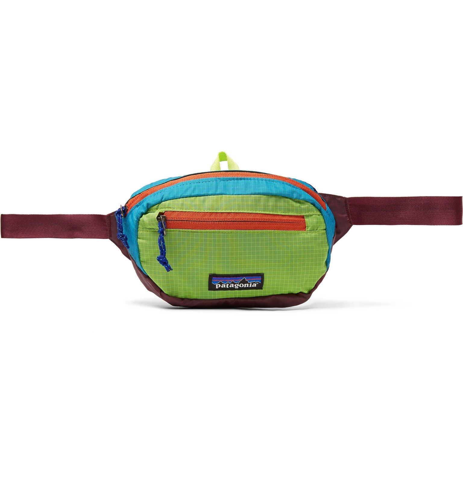 Photo: Patagonia - Mini 1L Colour-Block Nylon-Ripstop Belt Bag - Multi